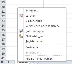 Excel: Arbeiten mit Tabellenblättern
